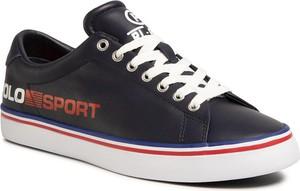 Polo Ralph Lauren Sneakersy Longwood 816784972002 Granatowy