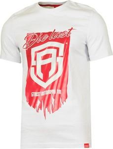 T-shirt Street Autonomy w młodzieżowym stylu z bawełny z krótkim rękawem