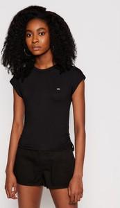 Czarny t-shirt Tommy Jeans z okrągłym dekoltem w stylu casual