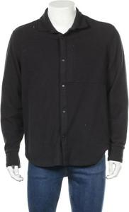 Czarna koszula Napapijri z długim rękawem z polaru z klasycznym kołnierzykiem