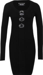 Sukienka Boutique Moschino dopasowana z długim rękawem w stylu casual