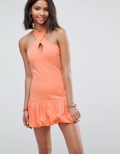 Pomarańczowa sukienka Asos Design mini