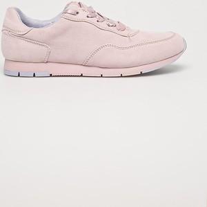 Różowe buty sportowe Tamaris z płaską podeszwą