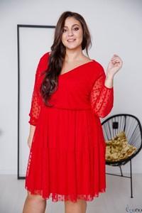 Sukienka tono.sklep.pl mini z długim rękawem z tiulu