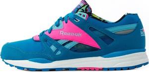 Niebieskie buty sportowe Reebok Classic z płaską podeszwą