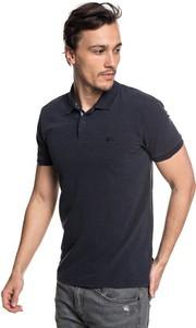 Niebieska koszulka polo Quiksilver z krótkim rękawem w stylu casual