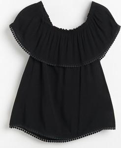 Czarna bluzka Reserved hiszpanka
