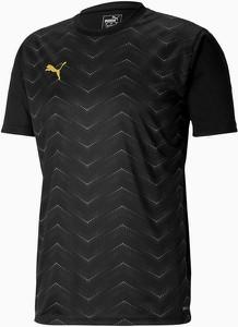 Czarny t-shirt Puma w sportowym stylu z krótkim rękawem