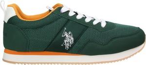 Zielone buty sportowe U.S. Polo sznurowane