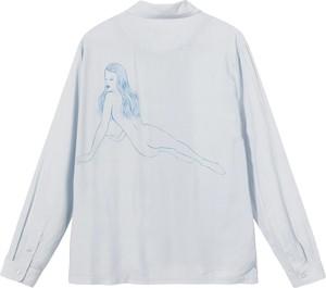 Niebieska koszula Stussy z długim rękawem
