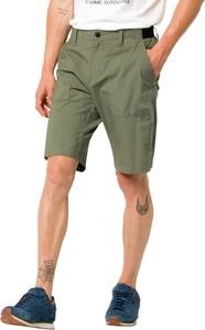 Zielone spodenki Jack Wolfskin w stylu casual z bawełny