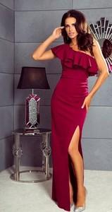 Czerwona sukienka Paris dopasowana