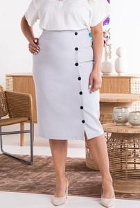 Spódnica KARKO midi z tkaniny