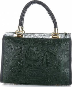 d72a4671d8809 Torebki skórzane kuferki firmy genuine leather butelkowa zieleń