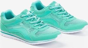 Miętowe buty sportowe Royalfashion.pl sznurowane