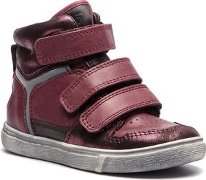 Fioletowe buty dziecięce zimowe Froddo na rzepy