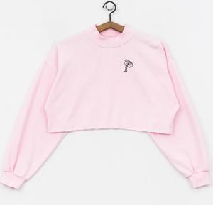 Różowa bluza Volcom z bawełny
