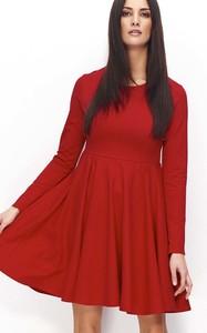 Czerwona sukienka Makadamia midi z bawełny