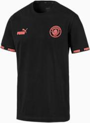 Czarny t-shirt Puma z bawełny z nadrukiem