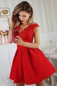 Sukienka Bicotone rozkloszowana z tiulu bez rękawów