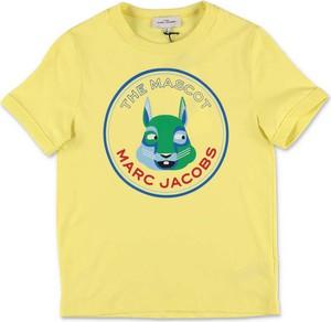 Żółta koszulka dziecięca Little Marc Jacobs z bawełny z krótkim rękawem