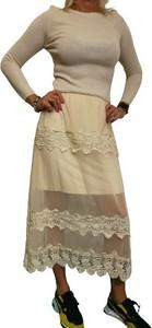 Sukienka WygodnaModa z tiulu z długim rękawem
