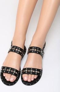 Czarne sandały Multu z klamrami