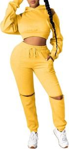 Żółty dres Kendallme z bawełny