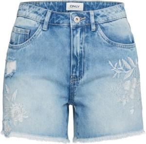 Niebieskie szorty Only z jeansu w street stylu