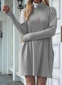 Sukienka Cikelly mini z golfem w stylu casual