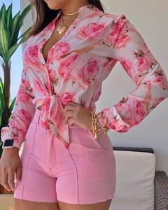 Różowa bluzka Kendallme w stylu casual