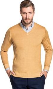 Pomarańczowy sweter giacomo conti