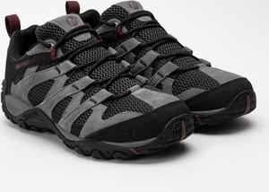 Czarne buty trekkingowe Merrell z goretexu sznurowane