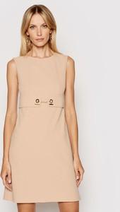 Sukienka Rinascimento mini z okrągłym dekoltem bez rękawów