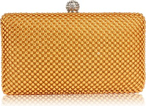 Żółta torebka Wielka Brytania mała w stylu glamour