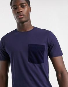 T-shirt Selected Homme ze sztruksu z krótkim rękawem