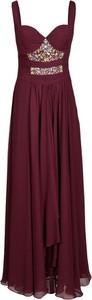 Czerwona sukienka Fokus rozkloszowana