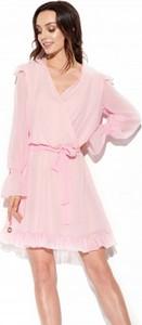 Sukienka Lemoniade mini z jedwabiu z długim rękawem
