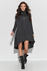Czarna sukienka Numinou z golfem w stylu casual