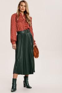 Złota spódnica Renee midi w stylu casual