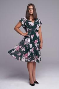Sukienka Ella Boutique midi z krótkim rękawem