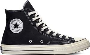 Czarne trampki Converse sznurowane z płaską podeszwą