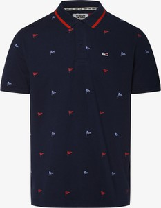 Granatowa koszulka polo Tommy Jeans z krótkim rękawem