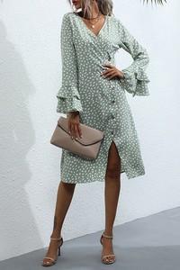 Sukienka IVET kopertowa w stylu casual mini