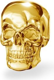 GIORRE Srebrny koralik zawieszka charms CZASZKA srebro 925 : Kolor pokrycia srebra - Pokrycie Żółtym 24K Złotem