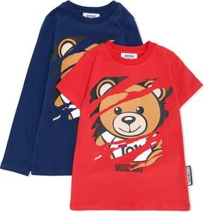 Koszulka dziecięca Moschino Kids z bawełny dla chłopców