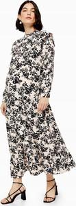 Sukienka Topshop maxi z długim rękawem