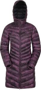 Fioletowa kurtka Mountain Warehouse w stylu casual długa