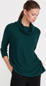 Zielona bluzka Reserved w stylu casual z długim rękawem z dekoltem woda