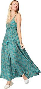 Zielona sukienka Aller Simplement z szyfonu maxi